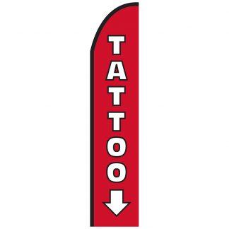 FF-T2-315-TATTOO Tattoo 3' x 15' Half Drop Feather Flag-0