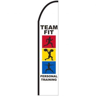 FF-T2-315-TRAINING Personal Training 3' x 15' Half Drop Feather Flag-0