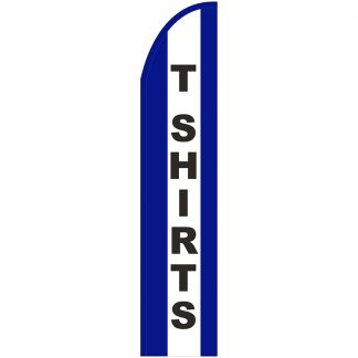FF-T2-315-TSHIRTS T-Shirts 3' x 15' Half Drop Feather Flag-0