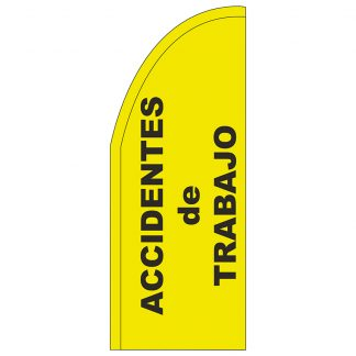 FF-T2-38-ACCIDENTS Accidents 3' x 8' Half Drop Feather Flag-0