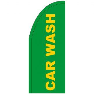 FF-T2-38-CARWASH Green Car Wash 3' x 8' Half Drop Feather Flag-0