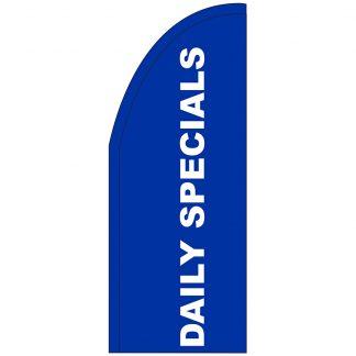 FF-T2-38-DAILYSPECIALS Daily Specials 3' x 8' Half Drop Feather Flag-0