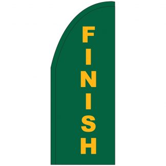 FF-T2-38-FINISH Finish 3' x 8' Half Drop Feather Flag-0