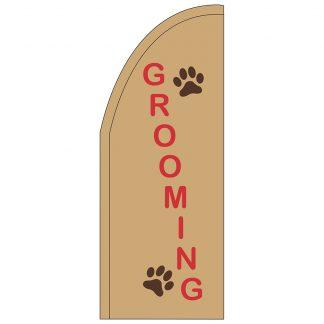 FF-T2-38-GROOMING Grooming 3' x 8' Half Drop Feather Flag-0