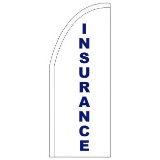 FF-T2-38-INSURANCE Insurance 3' x 8' Half Drop Feather Flag-0