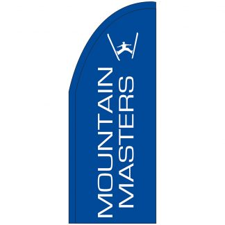 FF-T2-38-MOUNT Mountain Masters 3' x 8' Half Drop Feather Flag-0