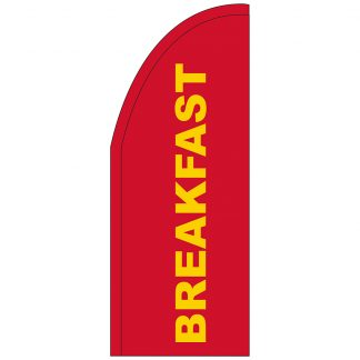 FF-T2-38-REDBREAKFAST Red Breakfast 3' x 8' Half Drop Feather Flag-0
