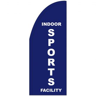 FF-T2-38-SPORTS Indoor Sports Facility 3' x 8' Half Drop Feather Flag-0