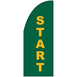 FF-T2-38-START Start 3' x 8' Half Drop Feather Flag-0