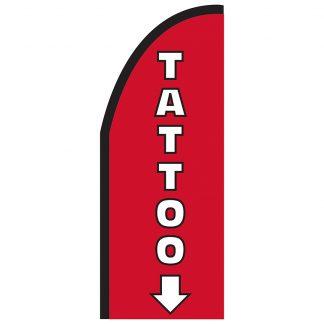FF-T2-38-TATTOO Tattoo 3' x 8' Half Drop Feather Flag-0