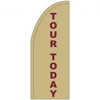 FF-T2-38-TOUR Tour Today 3' x 8' Half Drop Feather Flag-0