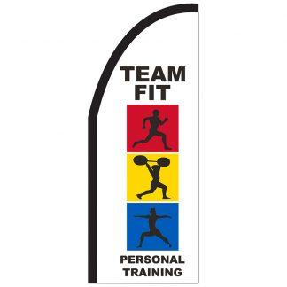 FF-T2-38-TRAINING Personal Training 3' x 8' Half Drop Feather Flag-0