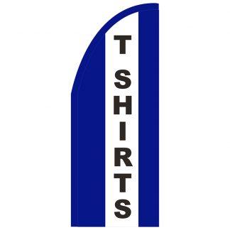 FF-T2-38-TSHIRTS T-Shirts 3' x 8' Half Drop Feather Flag-0
