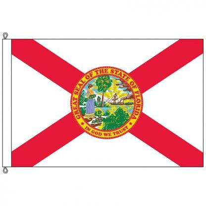 SF-812-FLORIDA Florida 8' x 12' Nylon Flag with Rope and Thimble-0