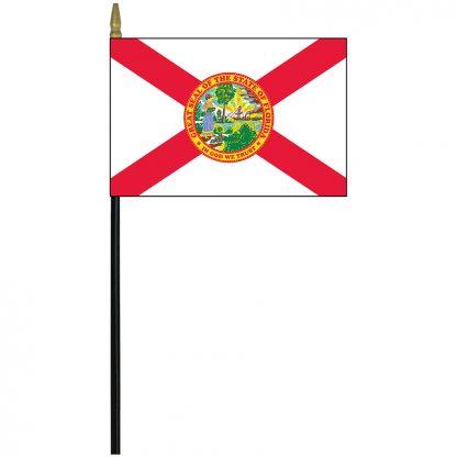 "MRF-46-FLORIDA Florida 4"" x 6"" Staff Mounted Rayon-0"