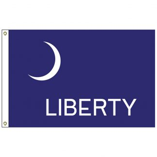 HF-419 Fort Moultrie 3' x 5' Outdoor Nylon Flag with Heading and Grommets-0
