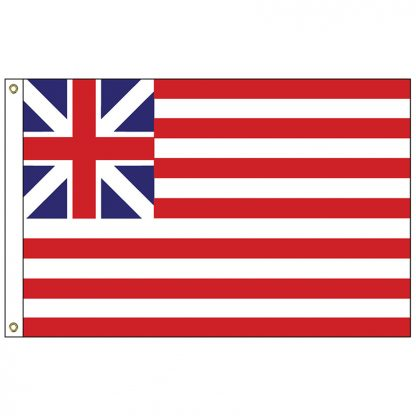 HF-421 Grand Union 3' x 5' Outdoor Nylon Flag with Heading and Grommets-0