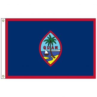 "SF-101-GUAM Guam 12"" x 18"" Nylon Flag with Heading and Grommets-0"