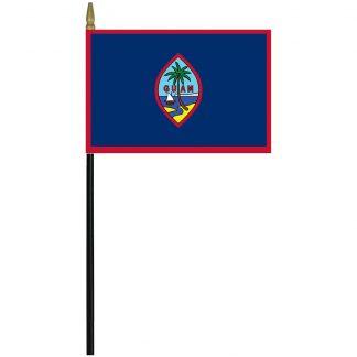 """MRF-46-GUAM Guam 4"""" x 6"""" Staff Mounted Rayon-0"""