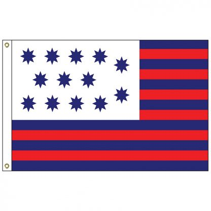 HF-424 Guilford Courthouse 3' x 5' Outdoor Nylon Flag with Heading and Grommets-0