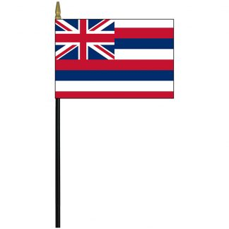 """MRF-46-HAWAII Hawaii 4"""" x 6"""" Staff Mounted Rayon-0"""