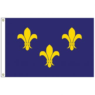 HF-416 Fleur-de-lis (blue-3) 3' x 5' Outdoor Nylon Flag with Heading and Grommets-0