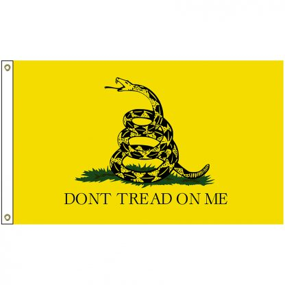 HF-420EP Gadsden 3' x 5' Economy Polyester Flag with Heading and Grommets-0