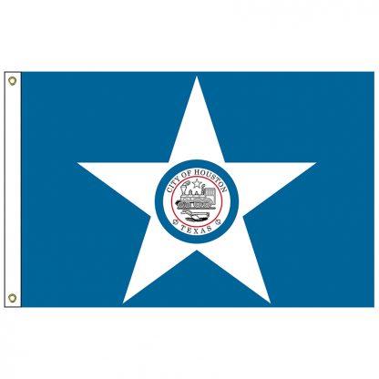 CF-4X6-HOUSTON Houston 4' x 6' Nylon Flag with Heading and Grommets-0