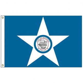CF-3X5-HOUSTON Houston 3' x 5' Nylon Flag with Heading and Grommets-0