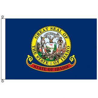 SF-1218-IDAHO Idaho 12' x 18' Nylon Flag with Rope and Thimble-0
