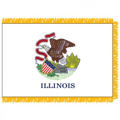 SFI-204-ILLINOIS Illinois 4' x 6' Indoor Flag-0