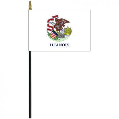 """MRF-46-ILLINOIS Illinois 4""""x 6"""" Staff Mounted Rayon-0"""