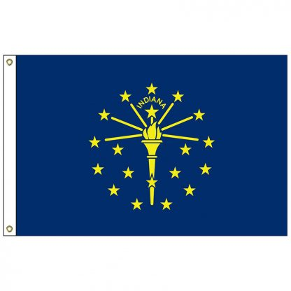 """SF-101-INDIANA Indiana 12"""" x 18"""" Nylon Flag with Heading and Grommets-0"""