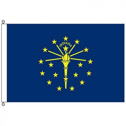 SF-1218-INDIANA Indiana 12' x 18' Nylon Flag with Rope and Thimble-0