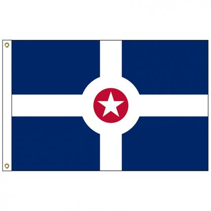 CF-5X8-INDIANAP Indianapolis 5' x 8' Nylon Flag with Heading and Grommets-0
