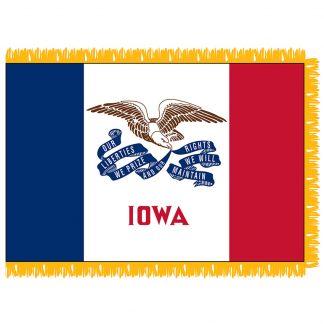 SFI-204-IOWA Iowa 4' x 6' Indoor Flag-0