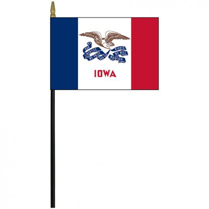"MRF-46-IOWA Iowa 4"" x 6"" Staff Mounted Rayon-0"