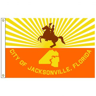 CF-5X8-JACKSON Jacksonville 5' x 8' Nylon Flag with Heading and Grommets-0