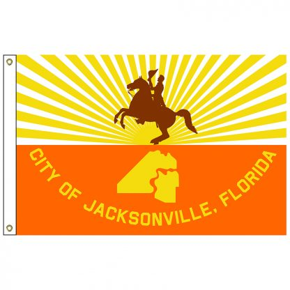 CF-3X5-JACKSON Jacksonville 3' x 5' Nylon Flag with Heading and Grommets-0