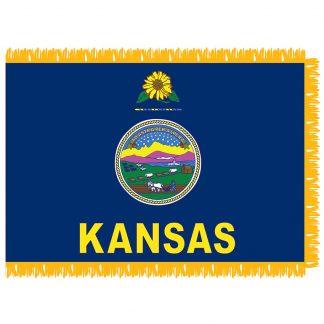 SFI-204-KANSAS Kansas 4' x 6' Indoor flag-0
