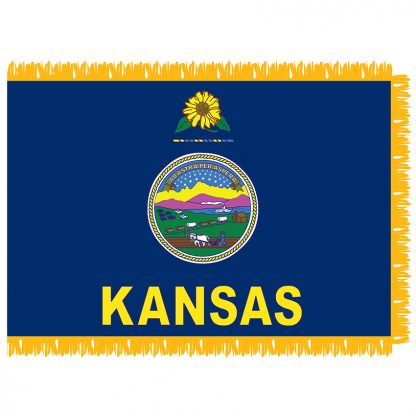 SFI-203-KANSAS Kansas 3' x 5' Indoor Flag-0