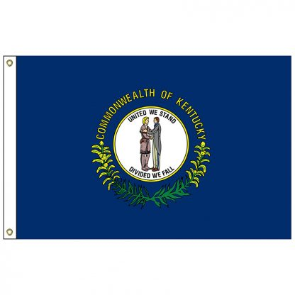 SF-102-KENTUCKY Kentucky 2' x 3' Nylon Flag with Heading and Grommets-0