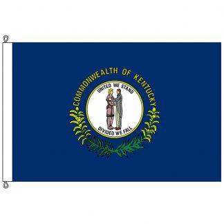 SF-1218-KENTUCKY Kentucky 12' x 18' Nylon Flag with Rope and Thimble-0