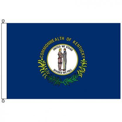 SF-812-KENTUCKY Kentucky 8' x 12' Nylon Flag with Rope and Thimble-0