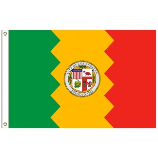 CF-5X8-LOSANG Los Angeles 5' x 8' Nylon Flag with Heading and Grommets-0