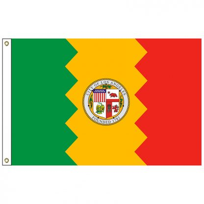 CF-3X5-LOSANG Los Angeles 3' x 5' Nylon Flag with Heading and Grommets-0