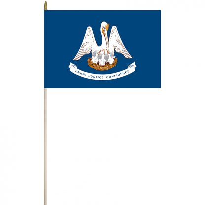 "EPC-1218-LOUISIANA Louisiana 12"" x 18"" Stick Flag-0"