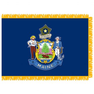 SFI-204-MAINE Maine 4' x 6' Indoor Flag-0