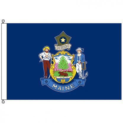 SF-1015-MAINE Maine 10' x 15' Nylon Flag with Rope and Thimble -0