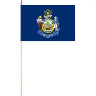 "EPC-1218-MAINE Maine 12"" x 18"" Stick Flag-0"